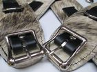 4 Piece Exotic Limited Edition hair on cowhide Leather Restraint Cuffs Set (Wrist & Ankles),
